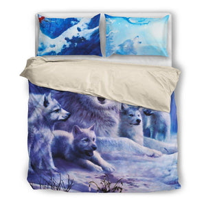 Wolf Beige Bedding Set - WearItArt - Bedding Set