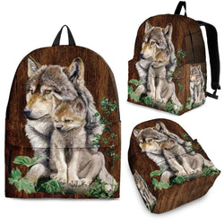 Wolf & Puppy Backpack - WearItArt - Backpack