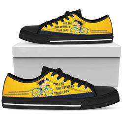 Yellow Bicycle Men's Low Top Shoe - WearItArt - shoes