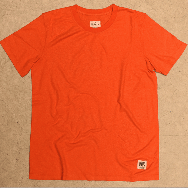 Hemp t-shirt orange