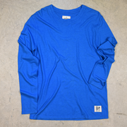Blue long sleeve hemp shirt