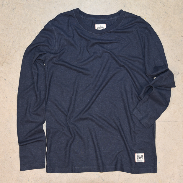 Navy long sleeve hemp shirt