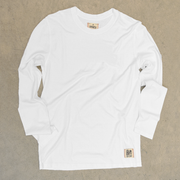 White long sleeve hemp shirt