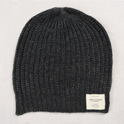 Ladies Cashmere Knit Beanie dark grey