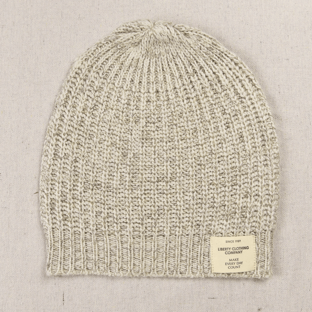 Ladies Cashmere Knit Beanie white