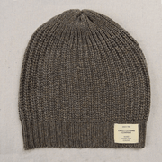 Ladies Cashmere Knit Beanie light grey