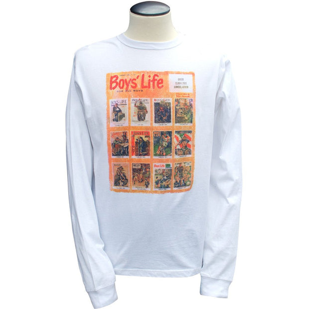 Norman Rockwell - Best of Boys' Life, White Long Sleeve T Shirt