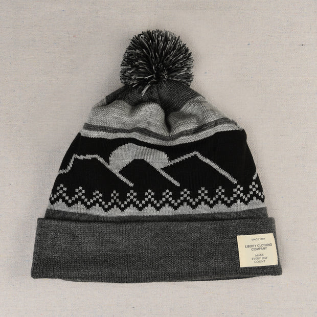 Black and grey Mountain Toque