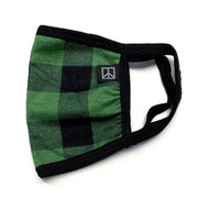 Green Tartan Face Mask