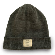 Charcoal Slouchie Beanie with Label