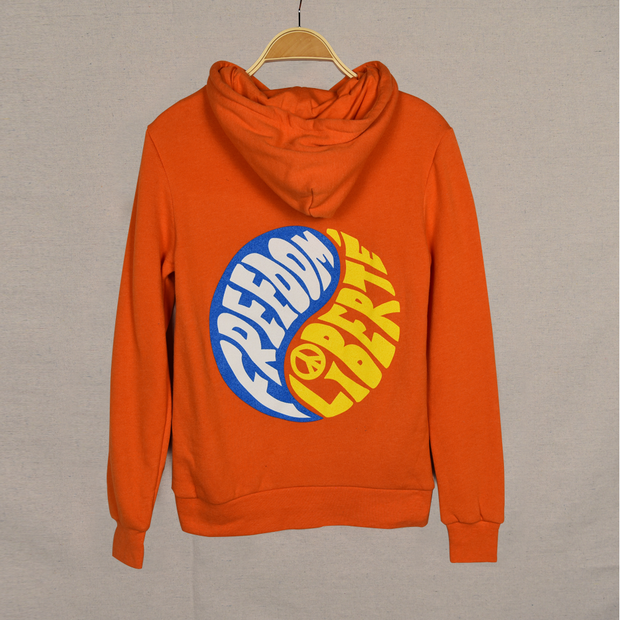 Orange Youth Ying Yang Surf Hood