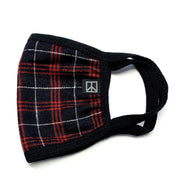 Red and Black Tartan Face Mask