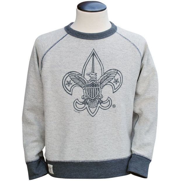 Liberty X Boy Scouts of America ®, Reverse Crew, Charcoal (reverse side)