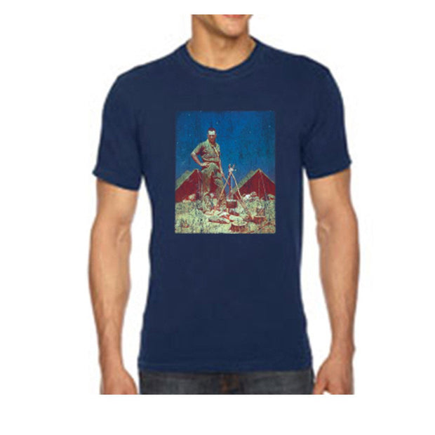 Norman Rockwell - The Scoutmaster, Navy T Shirt