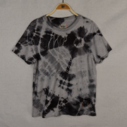 Black Tie-Dye hemp t-shirt for women and men