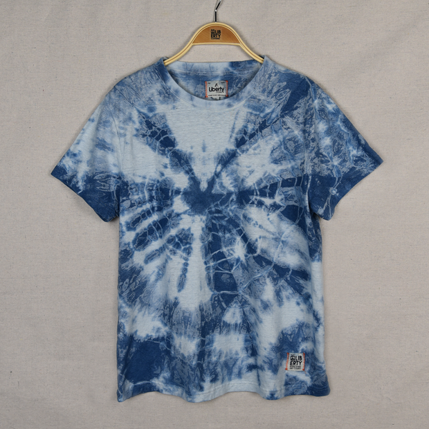 Blue Tie-Dye hemp t-shirt for women and men