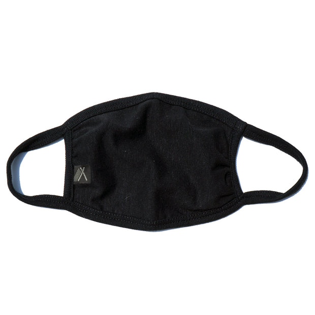 Hemp youth face mask black