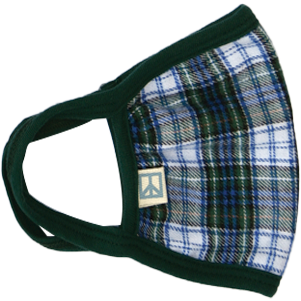 Blue Green Tartan Face Mask
