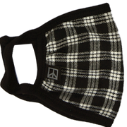 Black and White Tartan Face Mask