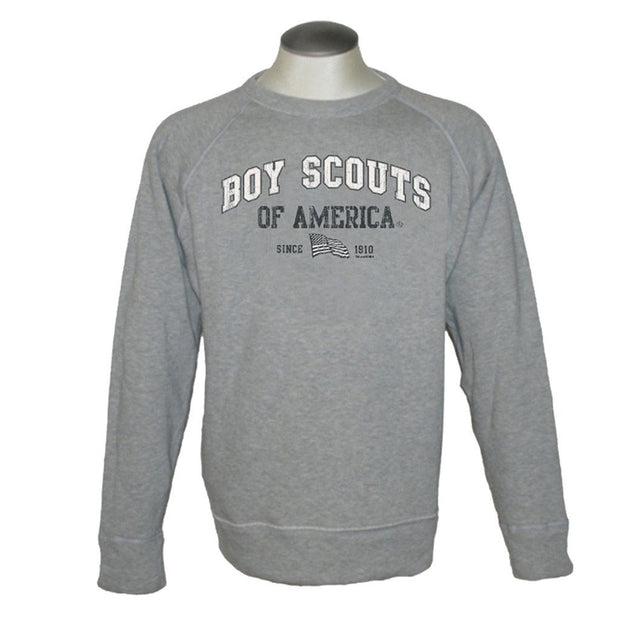Liberty X Boy Scouts of America ®, Reverse Crew, Heather Grey