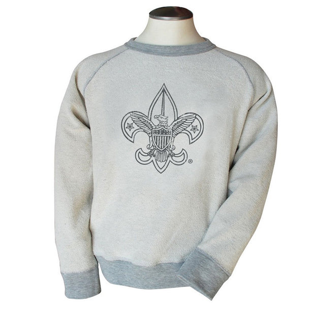 Liberty X Boy Scouts of America ®, Reverse Crew, Heather Grey (Reverse side)
