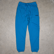 blue cotton sweatpants for women and men