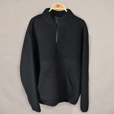 1/4 zip pullover jacket (black)