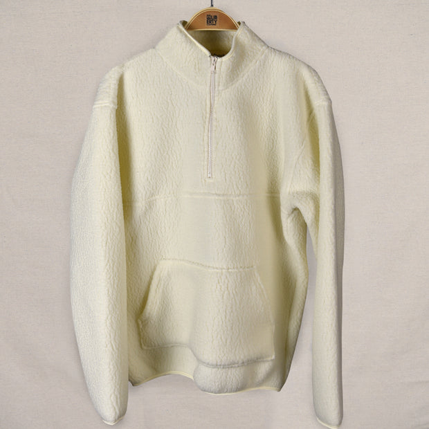 1/4 zip pullover jacket (white)