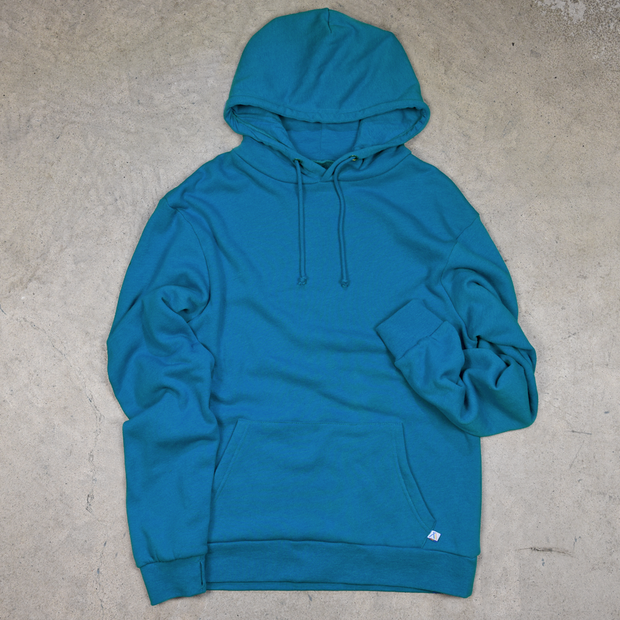 Blue youth cotton surf hoodie