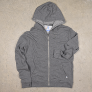 Grey Youth Surf Zip Hoodie