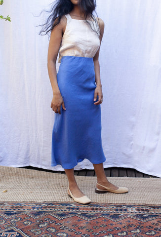 Peggy Bias Skirt - Bluebird - Form By T