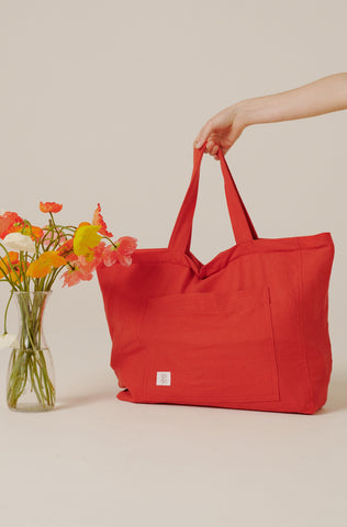 Large Weekend Bag - Cherry