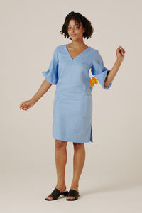 Elyse Dress - Cornflower