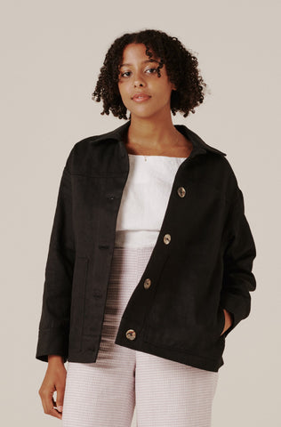Rosa Hemp Jacket - Black
