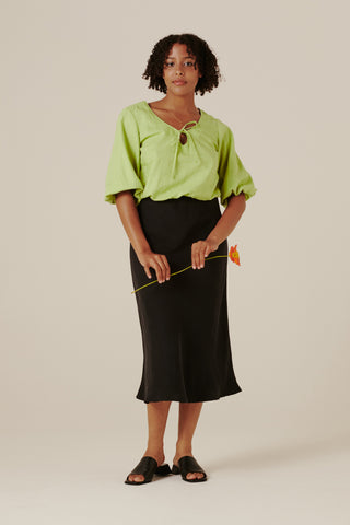 Peggy Bias Skirt - Black