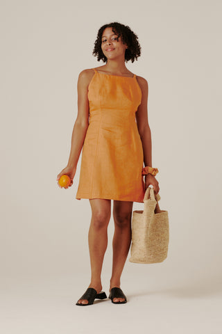 Ella Dress - Tangerine