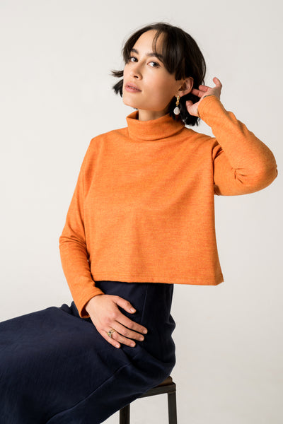 Madison Merino Jumper - Tangerine