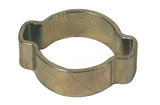 "0305 Dixon Pinch-On Double Ear Clamps - Zinc Plated Steel - 3/16"" Nominal Size - Range: .134 Closed to .197 Open (Pack of 100)"