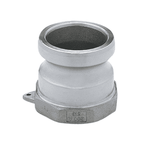 "400ASS Banjo 316 Stainless Steel Cam Lever Coupling - Part A - 4"" Male Adapter x 4"" Female NPT - 150 PSI - Gasket: N/A"