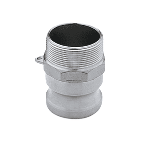 "200FSS Banjo 316 Stainless Steel Cam Lever Coupling - Part F - 2"" Male Adapter x 2"" Male NPT - 150 PSI - Gasket: N/A"