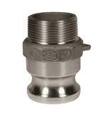 "100-F-HA Dixon 1"" Hastelloy Type F Adapter - Male NPT x Male Adapter"