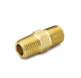 "10483 Nycoil Brass Pipe Fitting - Hex Nipple - 1/4"" Male Pipe Thread - Pack of 10"