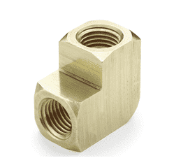 "10688 Nycoil Brass Pipe Fitting - 90 deg. Union Elbow - 3/8"" Female Pipe Thread - Pack of 10"