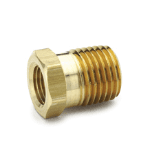 "10482 Nycoil Brass Pipe Fitting - Bushing - 1/8"" Female Pipe Thread x 1/4"" Male Pipe Thread - Pack of 10"