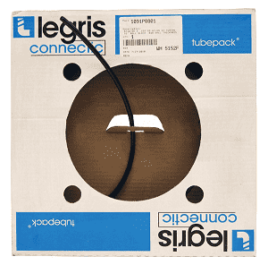 "1091P6001 Legris Black Nylon Tubing - 3/8"" OD x .275"" ID - .050 Wall Thickness - 50ft Roll"