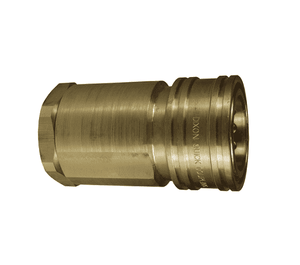 "10HF10-B Dixon Brass H-Series Quick Disconnect 1-1/4"" ISO-B High Volume Interchange Hydraulic Coupler - 1-1/4""-11-1/2 Female NPTF"