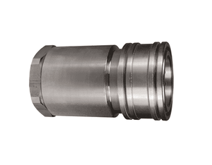 "10HF10-S Dixon 303 Stainless Steel H-Series Quick Disconnect 1-1/4"" ISO-B High Volume Interchange Hydraulic Coupler - 1-1/4""-11-1/2 Female NPTF"
