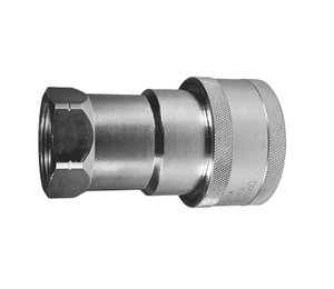 "10KF10 Dixon Steel K-Series Quick Disconnect 1-1/4"" ISO-A Interchange Hydraulic Coupler - 1-1/4""-11-1/2 Female NPT"