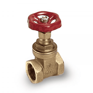 "112F00 RuB Inc. Gate Valve - Brass - 1"" Female NPT x 1"" Female NPT"