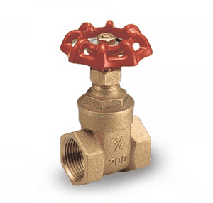 "114D41 RuB Inc. Gate Valve - Brass - 1/2"" Female NPT x 1/2"" Female NPT - Heavy Pattern"